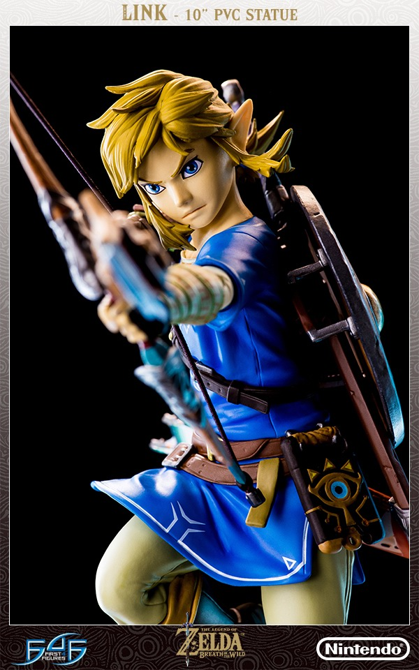 First Figure Link toy Skyward Sword Shield the legend of Zelda Breath of the Wild PVC action Figures Collection Model doll 25cm neca planet of the apes george taylor clothed pvc action figure collection model toy 8 20cm