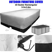 350x260x90cm Waterproof Polyester Outdoor Furniture Cover 10 Seater Coffee Table Chairs Dust Rain UV Protection Table
