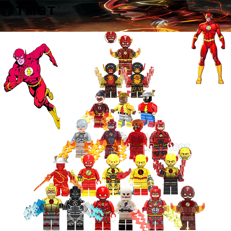 50PCS LOT DC Super Hero Flash Reverse flash Justice League Batman Joker Building Blocks Toys for