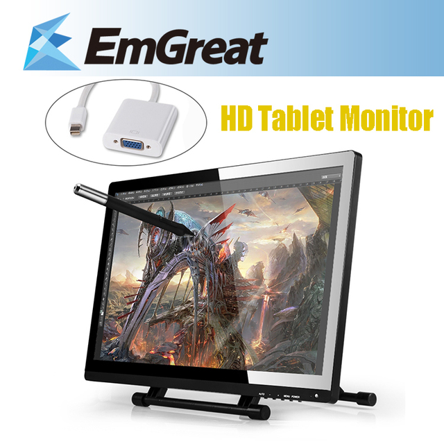 Ugee UG-2150 IPS HD 1920 * 1080 P планшет монитор цифровой жк-дисплей 5080LPI + мини-displayport мини-дп в VGA адаптер кабель
