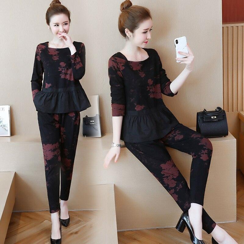 YICIYA volants 2 pièces ensemble survêtements pour femmes tenue sportswear co-ord ensemble grande taille 4xl 5xl gros vêtements noir elégant