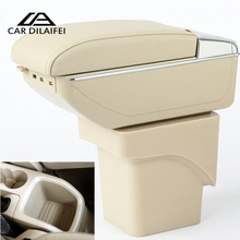 Car Armrest Case For Ford Focus 2 2005-2014 Armrest Central Store Content Storage Box With Cup Holder Ashtray