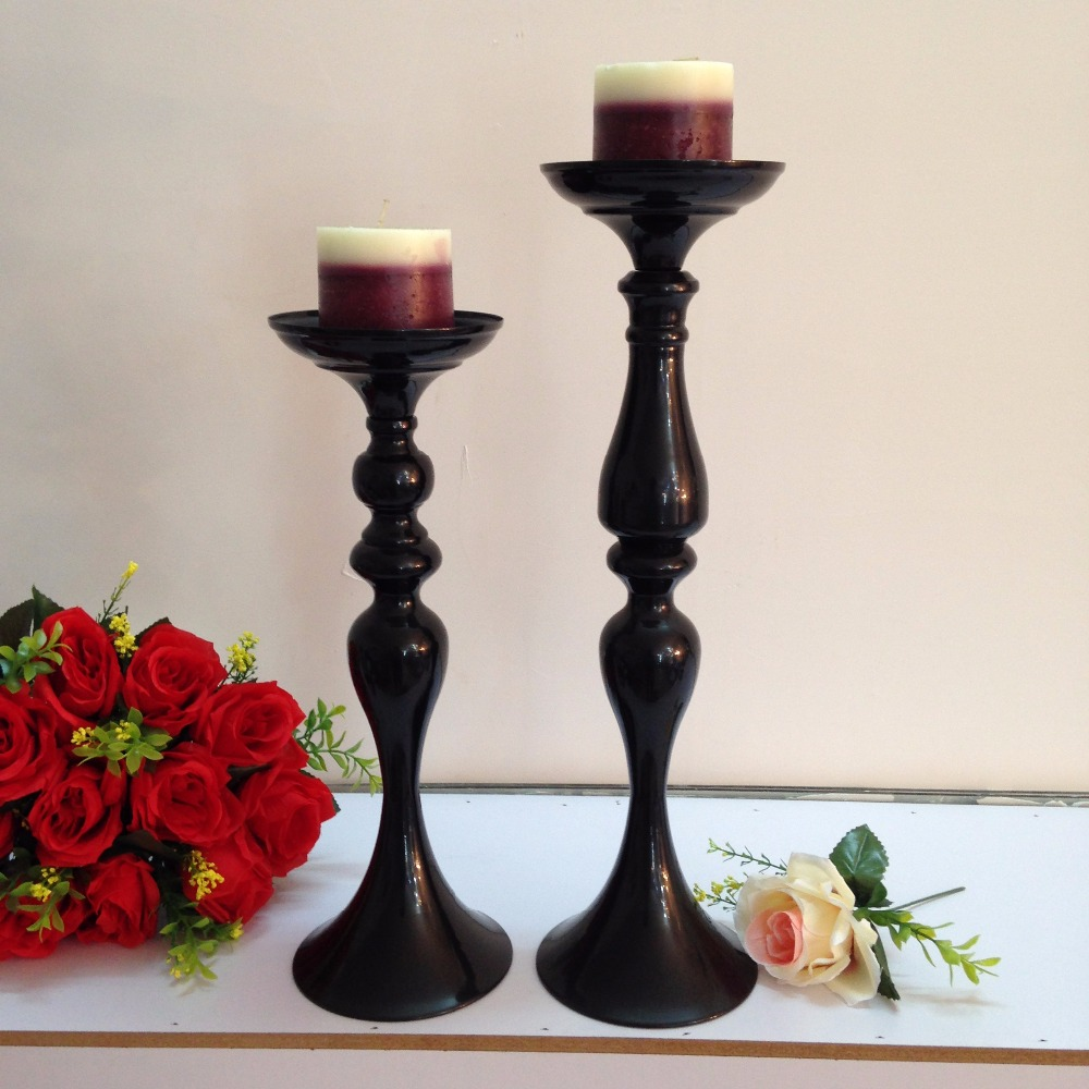 "45cm / 17.7"" Wedding Road Lead Flower Shelf Black Table Stand for Wedding Centerpiece Decoration flower vase candle holder"