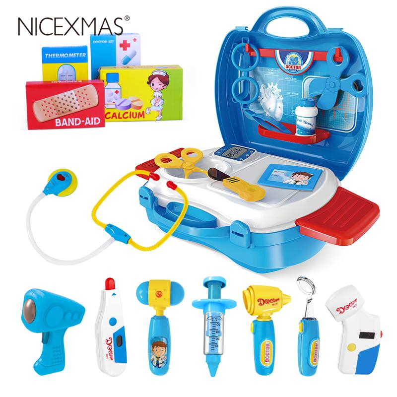 27PCS High Quality Educational Role Playing Medical Toy Nurse Toy Pretend Play Doctor Kit for Toddlers Girls Boys