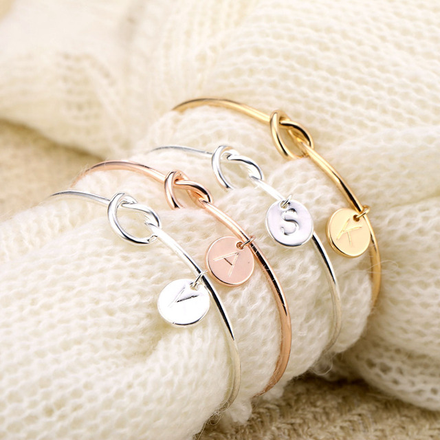 Fashion Letter Pendant Bracelet Bransoletka Jewelry Gold Silver Rose Gold English Bracelet Factory Direct Wholesale