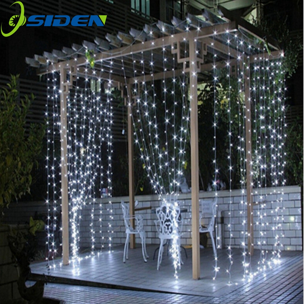 String lys 3x3 4 * 1led icicle led gardin fe fairy 300 led christmas lys til bryllup hjem garden party dekoration