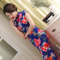 Traditional Chinese Oriental Dresses Long Cheongsam Wedding Dress Silk Qipao Robe Chinoise Vintage Vestido Evening Gown Women