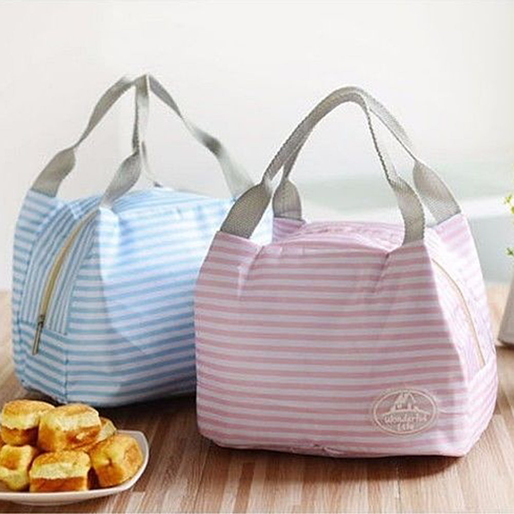 Women Kids Men Cooler Lunch Box Bag Insulated Canvas Lunch Bag Thermal Food Picnic Lunch Bags