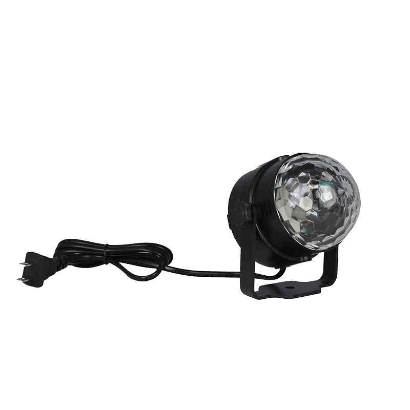 Kingso RGB LED Crystal Magic Ball Stage Effect Lighting Lamp Party Disco Club DJ Bar Light Show 100-240V US Plug remote control