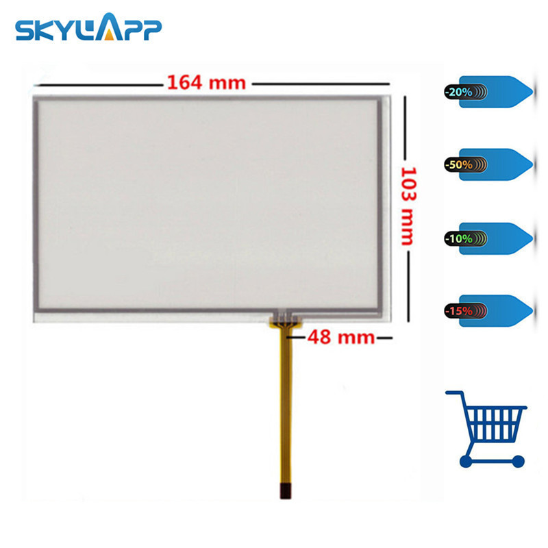 Skylarpu 2pcs 7 inch 4 wire Resistive Touch Screen 164mm*103mm for AT070TN83 V.1 <font><b>AT070TN84</b></font> Car navigation DVD tablet Digitizer image