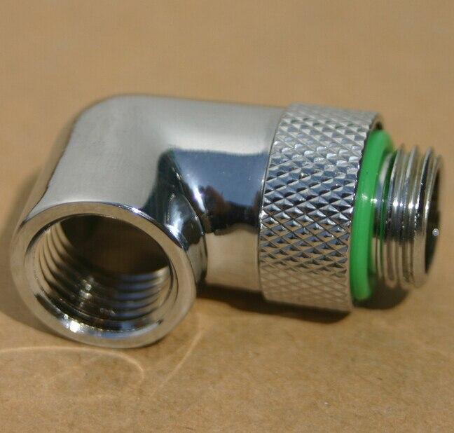 G1 / 4 Computer Water 90 graden gebogen Snel / snel draaien, 360 graden draaiende connector 4 stks
