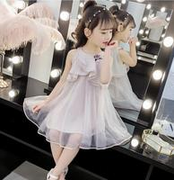 Dress For Girls 10 To 12 Years 2019 Summer Girl Fashion Flower Pearl Tulle Princess Dresses Toddler Party Dress 3-12Y