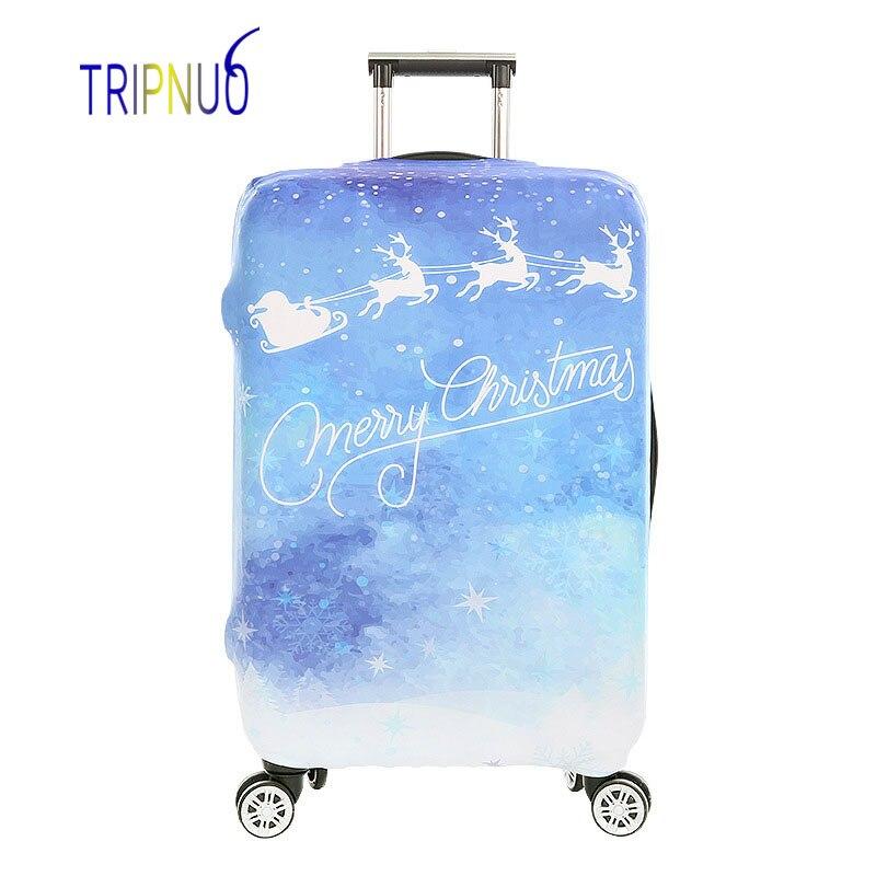 TRIPNUO Рождество Чемодан Футляр тележки чемодан защитная крышка для 18-32 дюймов дорожн ...