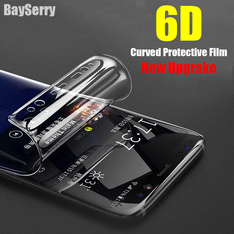 6D Cover Soft Screen Protector For Samsung Galaxy S10 S9 S8 Plus E S6 S7 Edge Protective Film For Samsung Note 9 8 ( Not Glass )