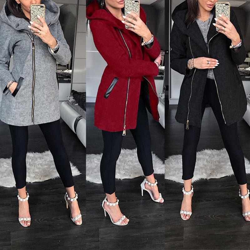 Autumn Winter Suit Blazer Women 2018 Casual Formal Wool Coat Elegant Work Office Lady Long Sleeve Blazer Mujer Outerwear 1