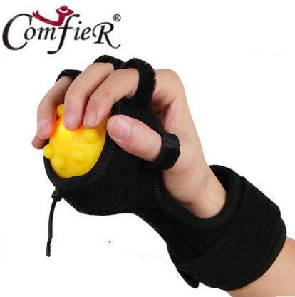 Hot Compress Hand Massager Ball, Hand Physiotherapy & REHABILITATION for finger dystonia which caused by HEMIPLEGIA & STROKE, hand wrist orthosis separate finger flex spasm extension board splint apoplexy hemiplegia right left men women