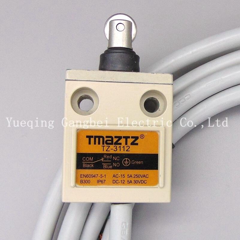Tmaztz TZ-3112 IP67 4 Fil Rouleau Levier Limite Plongeur Commutateur SPDT NO + NC fil De Cuivre 3 M