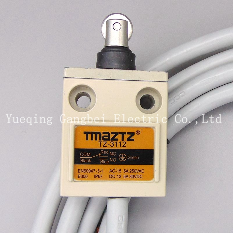 цена на Tmaztz TZ-3112 IP67 4Wire Roller Lever Plunger Limit Switch SPDT NO+NC Copper wire 3M