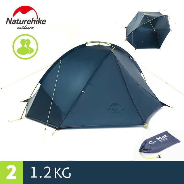 Naturehike 20D Nylon Taga Outdoor Camping Tent Ultralight One Bedroom One Man Only 1kg Two Man 1.2kg Waterproof barraca tenda