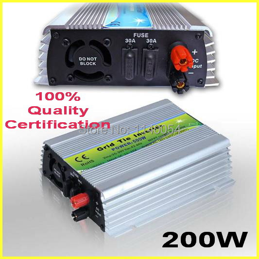 ФОТО 200W 24-48VDC MPPT Grid Tie Inverter,200-240W 36V DC to AC 120V or 230V Pure Sine Wave Output Solar Wind Power Home Use Inverter