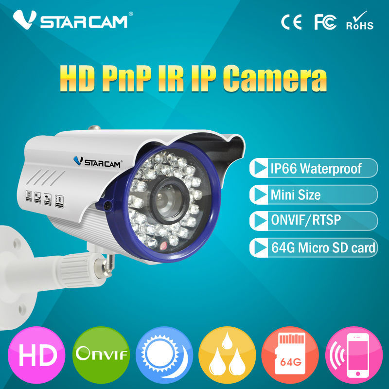 VStarcam C7815WIP WiFi IP Camera Outdoor 1.0MP Megapixel HD CCTV Wireless Bullet Surveillance Security Sysytem Home wistino cctv camera metal housing outdoor use waterproof bullet casing for ip camera hot sale white color cover case