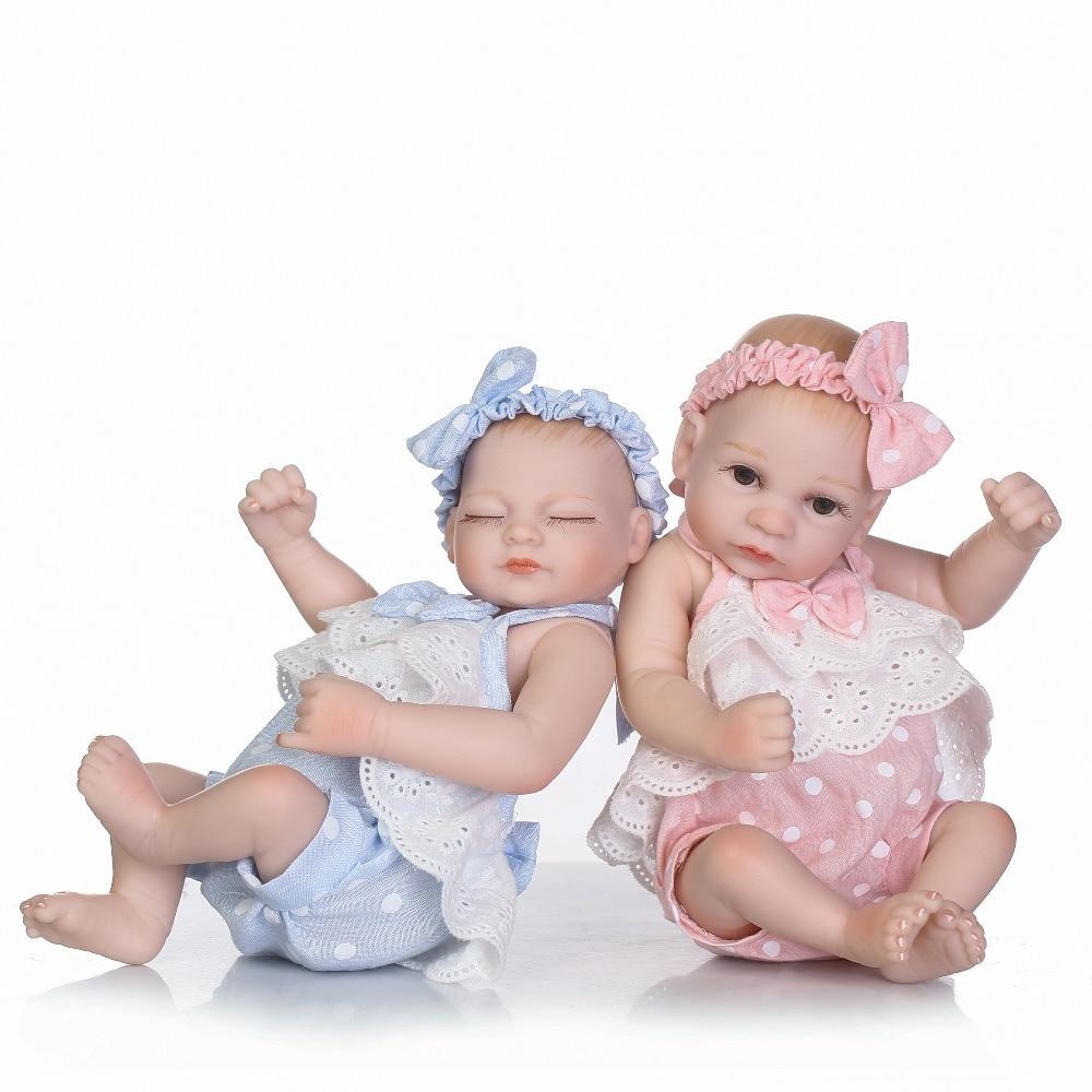 NPKCOLLECTION 25 cm Baby Puppe Volle Silikon Körper Lebensechte Bebe Reborn Bonecas Handgemachte Baby Spielzeug Für Kinder Weihnachten Geschenke