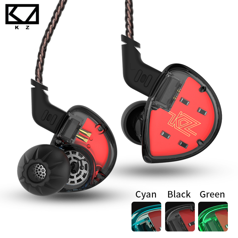 Newest KZ ES4 In Ear Monitors Armature And Dynamic Hybrid Headset Earphone Earbuds HiFi Bass Noise Cancelling Hooks Headphones