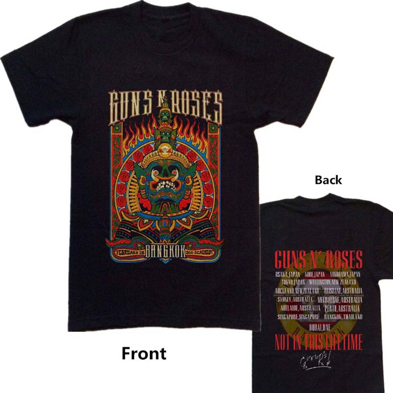 Business Shirts Crew Neck Guns N Roses Not In This Life Time Comfort Soft Short Sleeve Shirt For Men