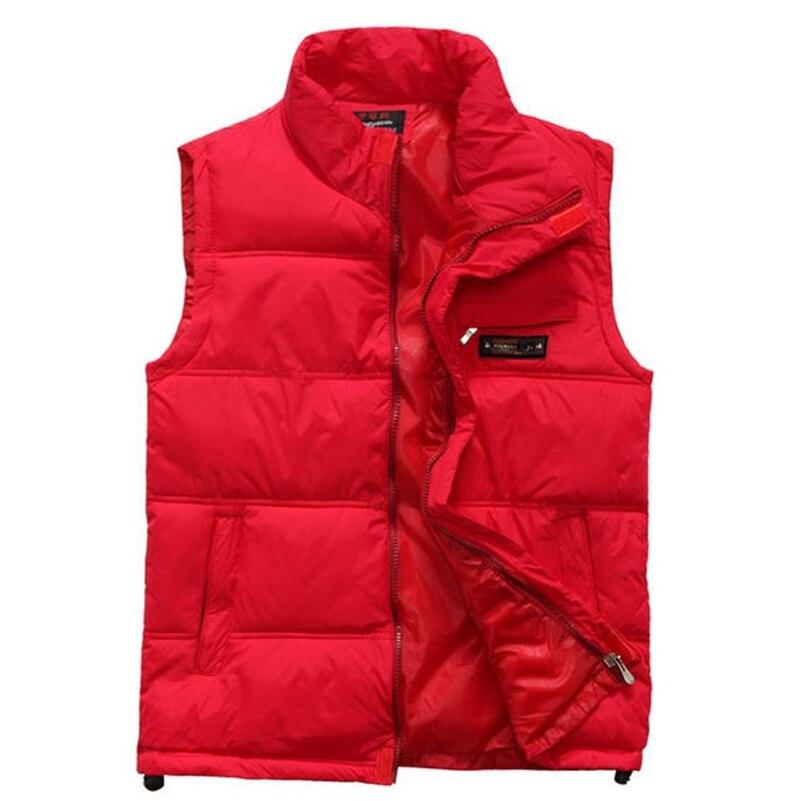 Для влюбленных, жилет с перьями, мужская осенне-зимняя утепленная, теплая Корейская версия, Chao зимний жилет с воротником, жилет, пальто.