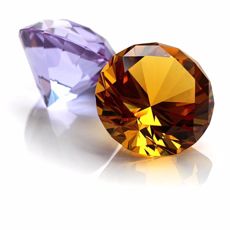 1 kus 40mm barevné leštěné skleněné kuličky Crystal Diamond korálek domácí dekorace Příslušenství narozeninové dárkové řemeslo