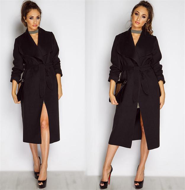 Starlist winter and spring warm Coat turn down collar Belt Overcoat Woman Fashion Pink Overcoat