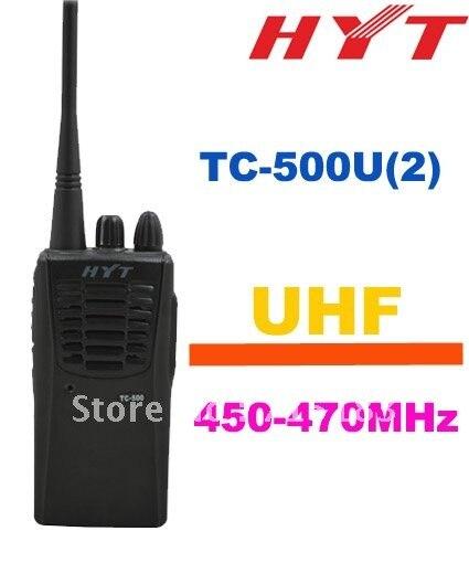 Haute Qualité Talkie Walkie HYT Hytera TC-500 4 Watt 16 CH UHF 450-470 MHz Portable Deux-façon Radio Noir Couleur Émetteur-Récepteur