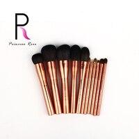 Princess Rose Professional 11pcs Rose Gold Makeup Brushes Set Goat Horse Hair Make Up Brush Pincel