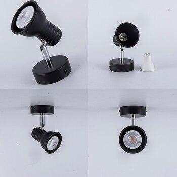 GU10 LED ตกแต่งไฟรอบโครงการ led โคมไฟข้างเตียงห้องนอนห้องโรงแรม wall sconce AC100-240V
