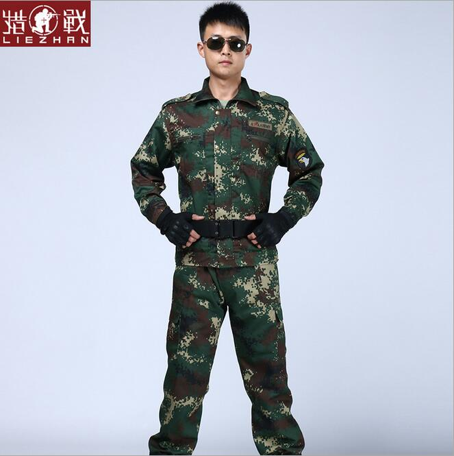 PRO security guard Digital camouflage clothing suits camouflage clothing combat field operations woodland CS camouflage clothing