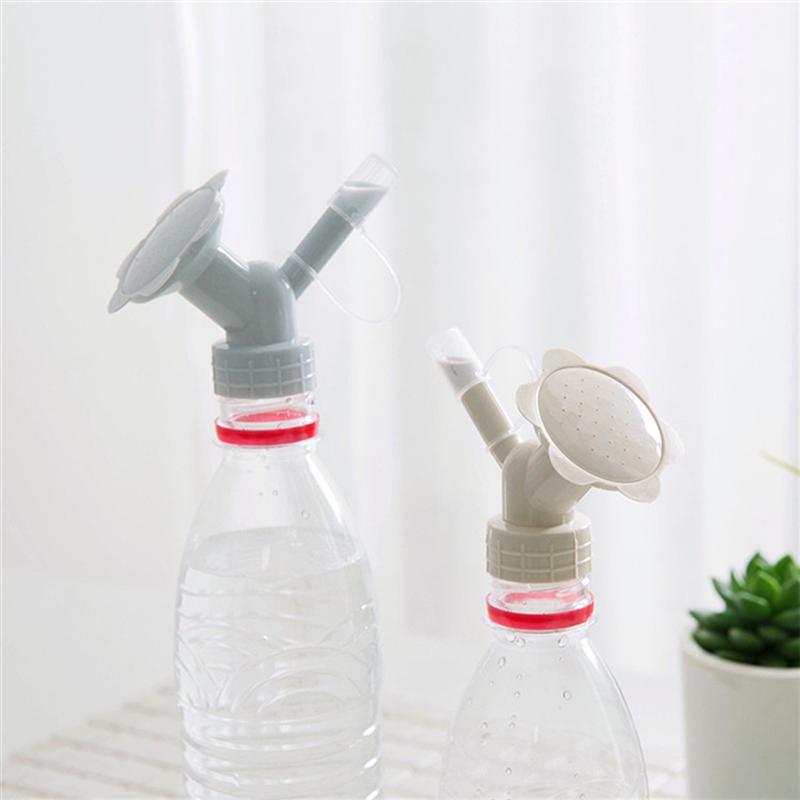 Blue Bottle Cap Sprinkler Watering Can Dual Head Bottle Watering Spout