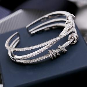 Image 4 - Mocai Fashion Design Cross Activity Small Circle Open Bangles For Women Bracelet Jewelry ZK40