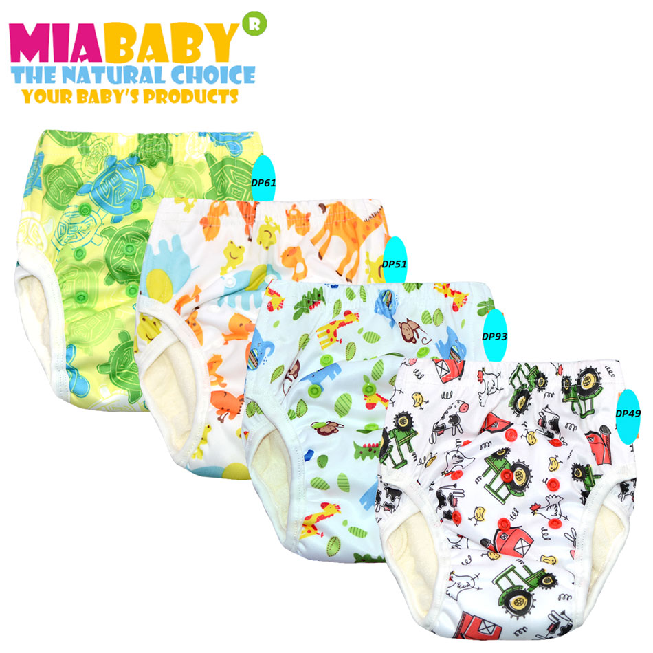 MIABABY EXTRA LARGE Cloth Diaper Training Pants,bamboo Terry Inside With A Sew Inside Insert, Specially For 2 Years Up Baby