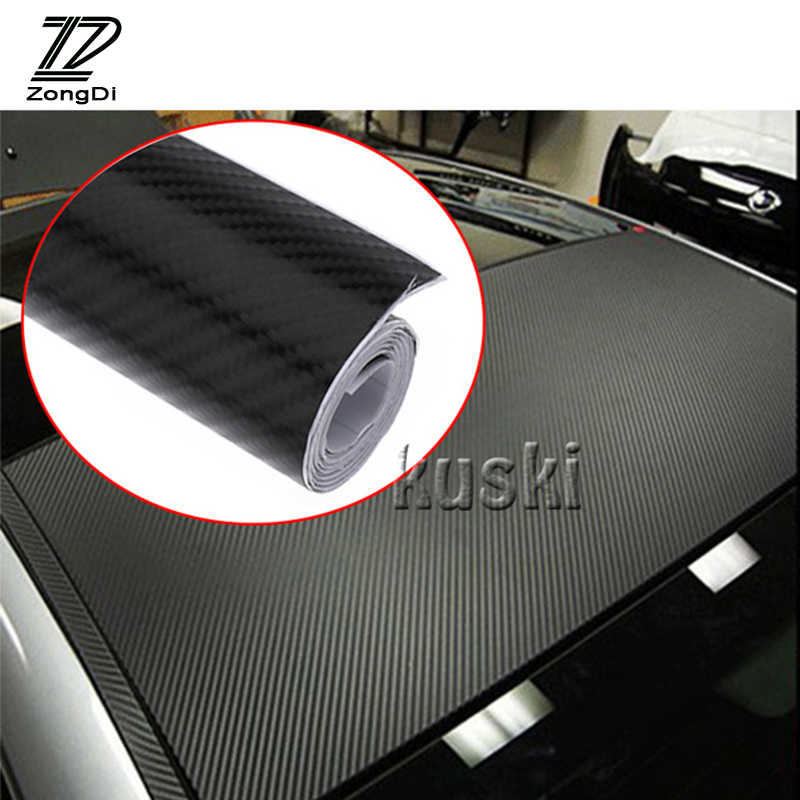 Autocollant de voiture en Fiber de carbone ZD 30X127 cm pour Volvo Toyota Chevrolet cruze Opel astra h Nissan qashqai Peugeot 307 308