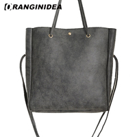 2 in 1 Composite Bag Women Drawstring Bucket Bags Pu Leather Large Capacity Tote Bag Casual Solid Color Female Shoulder Bags