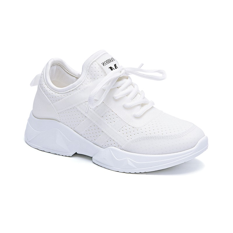 Woman Casual Shoes Breathable 2018 Breathable White Sneakers Women New Arrivals Fashion Lycra sneakers Shoes Women Flats 1