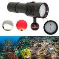 Водонепроницаемый фонарик для подводного плавания 2000LM 4x XP-G2 белый + 2x XPE красный светодиодный фонарь для подводного погружения