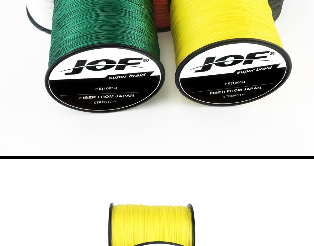 Multicolor 8 Strands 300M 500M 1000M PE Braid Fishing Line Sea Saltwater Fishing Weave 100% SuperPower JOF 23