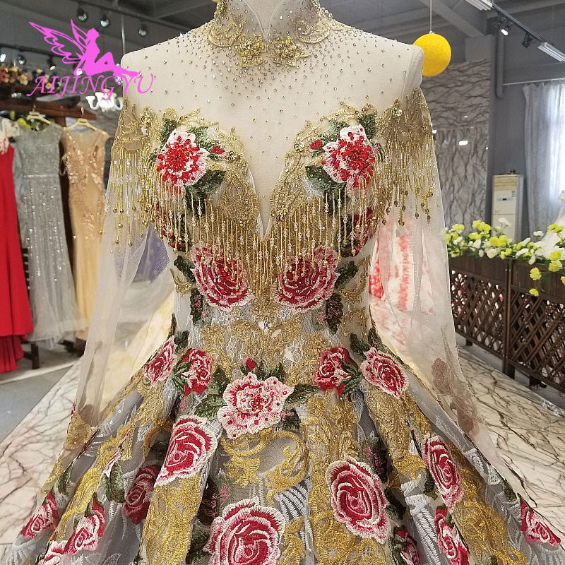 AIJINGYU Wedding Dresses Collection Simple Bridal Gowns Ivory Best Sexy Cheap Uk Gown Plus Size Muslim Wedding Dress