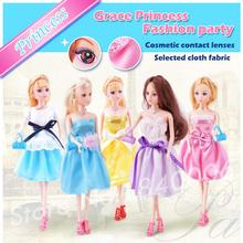 30CM Original Doll Girls Gifts Fabric Soft Clothes Skirt+Shoes+Bags Handmade Princess mini BJD toys Accessories For Barbie Doll