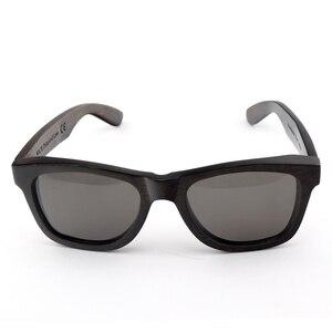 Image 2 - BOBO BIRD AG005a اليدوية خشب الأبنوس نظارة شمسية خشبية النساء الرجال العلامة التجارية تصميم خمر نظارات الموضة رمادي عدسات قطبية قبول OEM