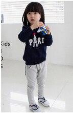 Envío Libre Del Otoño Del Resorte de Deportes de los Niños Niñas Bebé Niño Pullovers Sudadera Pantalones de Vestir Exteriores Pantalones de Sistema Ocasional