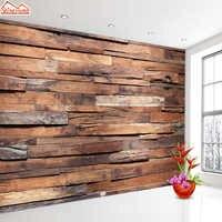 ShineHome-papier peint Photo papier peint Mural 3d pour salon papiers muraux maison Deor Art bois motif chambre TV Bar peintures murales rouleaux