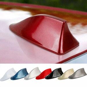 Image 3 - Universal Auto Dach Shark Fin Dekorative Antenne Antenne Abdeckung Aufkleber Basis Dach Carbon Faser Stil Für BMW Für Honda Für toyota