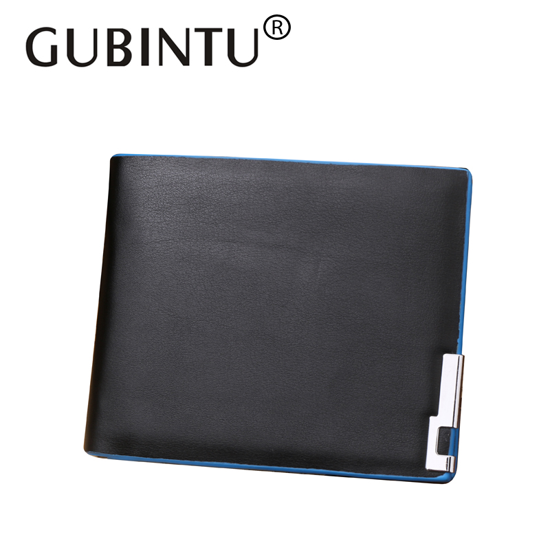 GUBINTU PU Leather Portfolio Designer Famous Brand Short Men Wallet Card Holder Carteras Male Bifold Clutch Wallet Money Bag designer men wallets famous brand men long wallet clutch male money purses wrist strap wallet big capacity phone bag card holder